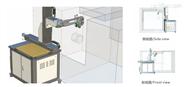 N100自動化系統置于數控車床前面